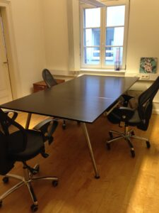 Our conference room can be seen at the co-working open house series